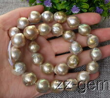 SP0371a  13-15MM natural Edison Nucleated Flameball Baroque  Freshwater pearl
