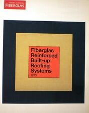 Owens Corning Fiberglas Built Up Roof Roofing Systems ASBESTOS Specification '73