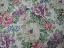 Sanderson Curtain Fabric 'Midsummer Rose' 3.6 METRES Lilac/Rose  Caverley Prints