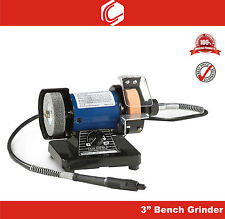 "3"" Mini Multipurpose Bench Grinder with Flexible Shaft for Polishing & Grinding"