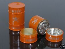 Orange 3 Piece Oil Drum Shape Hand Muller Herb Spice Tobacco Grinder Crusher#897