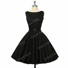 RED BLUE BLACK DRESS 50s PARTY VINTAGE SWING PROM RETRO PINUP DRESSES