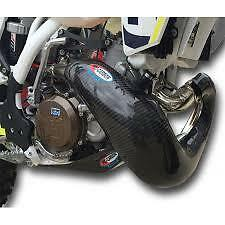 PRO CARBON Fibre NEW XL Exhaust Guard STD OEM STOCK PIPE HUSQVARNA TX300 2017