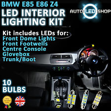 BMW E85 Z4 ROADSTER LED INTERIOR COMPLETE FULL KIT SET UPGRADE BULBS XENON WHITE