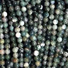 MOSS AGATE 8MM ROUND GEMSTONE BEADS 16 AA++ BEAD