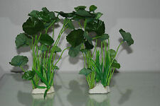 Aquarium 2 x Réaliste Haut Vert Plantes 6 x 3 x 22 cm Pour Tout Type D'Aquarium