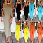 Sexy Ladies Low Cut Backless Summer Casual Maternity Tops Vest Long Maxi Dress