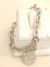 Jewellery - Silver Plated Bracelet with Rhinestone Charm - Deceased Estate