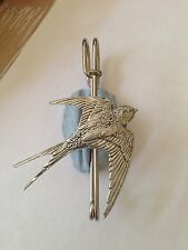 "B25 Swallow  kilt pin Scarf or Brooch pin pewter emblem 3"" 7.5 cm"