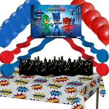 PJ Masks Party Decorations: Poster Balloons Streamers Comic Table Cover Skyline