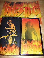 RARE AC/DC Bonfire BMG Box Set POSTER BOOKLET Volts LIVE From Atlantic Let There