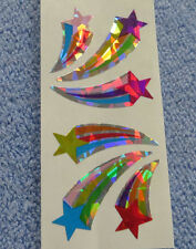 Sandylion SHOOTING STARS Strip of 2 Sqs RETIRED RARE Vtg Prism Stickers