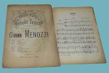 Giovanni Menozzi Fiorellini Musicali Melodie Teatrali FAUST Guarany Op. 176