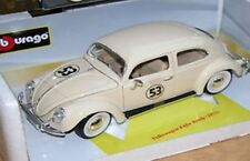 BURAGO Code 3 VW Kafer BEETLE diecast model Herbie No.53 decals 1955 1:18th