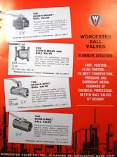 WORCESTER Company Catalog Economite Econ-O-Mite Ball Valve ASBESTOS Packing 1966