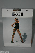 Wolford ~ TIGER POP ~  tights BNWT  nude  & black XSmall UK 6/8
