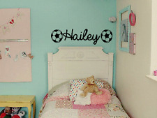 GIRLS PERSONALIZED NAME SOCCER Vinyl Wall Art Decal Kids Children Nursery Room