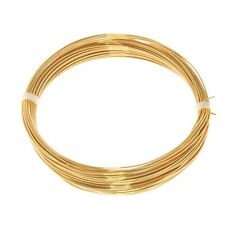 Bead Craft Wire Gilt on Copper for Jewellery Making 0.60mm - 10 Metres (C68/1)