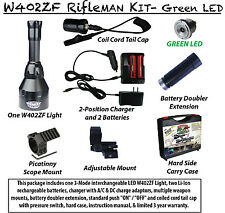 Wicked Lights W402ZF Rifle Kit Green LED Night Hunting Light for scope, weapon