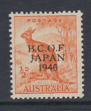 B.C.O.F.1946 ½d ORANGE WITH WRONG FOUNT '6' SG J1a MNH.