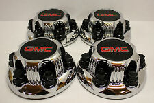 "Set of 2 Chrome GMC Sierra Yukon Savana 6 Lug 1500 Center Caps 16"" 17"" Wheels"