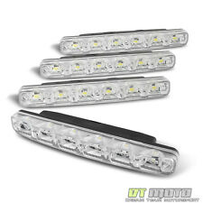 6 Smd White DRL [Eye Catching Luxury Led] Daytime Running Bumper Fog Lights+Wire