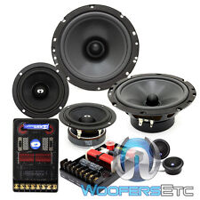 "CL-6E32 CDT AUDIO 3-WAY PRO 6.5"" 3"" MIDS TWEETERS CROSSOVERS COMPONENT SPEAKERS"