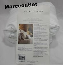 RALPH LAUREN 624 Thread Count Cotton Sateen KING Fitted Sheet White