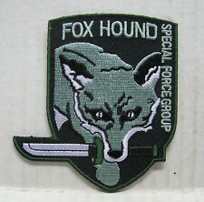 """Metal Gear FOX HOUND Special Forces Green Logo 3.5"""" Embroidered Patch(MGPA-02)"""