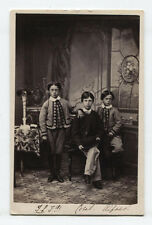 CDV THREE YOUNG BROTHERS OF SOME ENGLISH WEALTH. LOWESTOFT, ENGLAND.