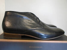 MENS H BY HUDSON BOOTS BLACK LEATHER CLAUD UK 11 RRP £110