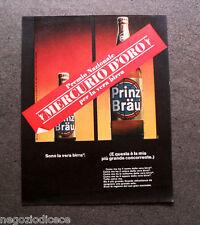 P087 - Advertising Pubblicità -1966- BIRRA PRINZ BRAU , PREMIO MERCURIO D'ORO