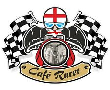 St Georges Cross English Flag CAFE RACER Ton Up Club motorbike helmet sticker