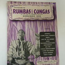 songbook EDMUNDO ROSS Rumbas and Congas
