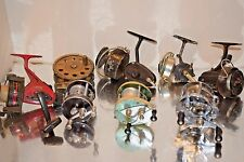 8 OLD VINTAGE FISHING ROD FLY REELS PARTS REPAIR COLLECTIBLE LURE DISPLAY