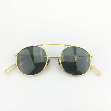 Vintage Ray Ban Sunglasses W1697 Arista Collection Gold Round B&L