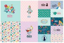 Disney Alice in Wonderland Character Cotton Fabric made in Korea by The Panel