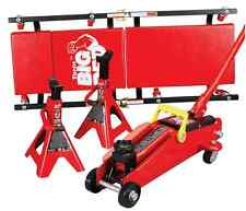 Trolley Jack Stand Creeper 2 Ton Floor Jacks Set Kit Car Truck Lift Lug Auto SUV