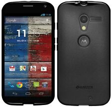 Amzer Exclusive Pudding Matte TPU Case Cover For Motorola Moto X XT1052 - Black