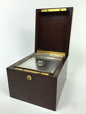 Tiffany & Co. Makers Mahogany Wooden Humidor Cigar Box Silver Lining Trunk TC190