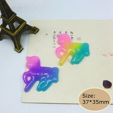 20pcs kawaii unicorn Flatback Resin Cabochon for Phone decoratin diy supply