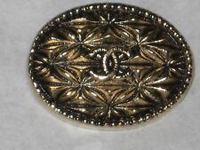 CHANEL  CC LOGO FRONT AUTH GOLD BUTTON TAG 16 x 12 MM emblum NEW