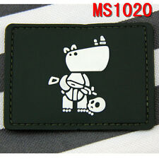 New Style Outdoor Militaria Assualt Rhinoceros Soliders PVC Rubber Magic Patch