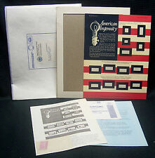 OPC American Ingenuity Postal Commemorative Society World Of Stamps Series Panel