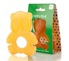 Hevea Panda Natural Latex Rubber Teether Gold Unisex