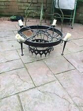 large wrought iron candle/light fitting / gothic medieval