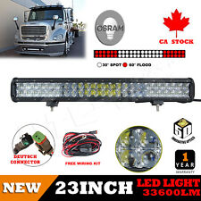 23inch Osram 33600LM 5D Led Spot Flood Work Light Offroad 4WD Truck SUV Bar