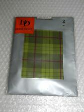 tIGHTS FANCY PRINTED TARTAN COSPLAY HALLOWEEN COSTUME SZ M FRANCE DORÉ DORÉ NIP