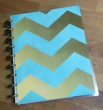Mint Gold Chevron Stars Cover Set made for use with Happy Planner