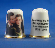 Birchcroft China Thimble -- Gone with the Wind 80th Birthday - Free Dome Box